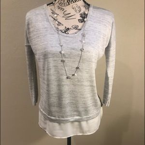 Express sweater with bottom layer NWOT S